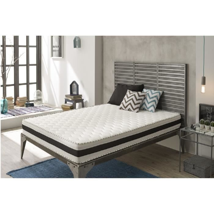 matelas m moire de forme aloe memory 140x190 cm en blue latex 25 cm de naturalex confort. Black Bedroom Furniture Sets. Home Design Ideas