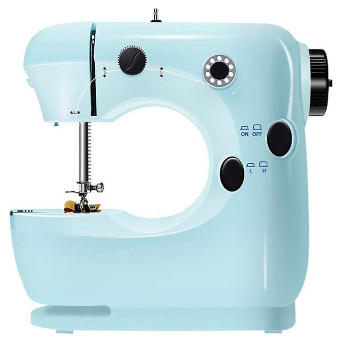 Mini Machine À Coudre Pour Débutant, Machine À Coudre Robuste À Coudre À Broder À 2 Vitesses, Facile À Utiliser, Pédale - Bleu