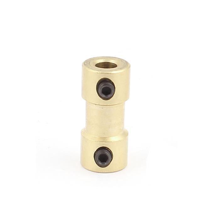 sourcingmap/® 4mm /à 4mm cuivre bricolage Joint daccouplement larbre moteur Connecteur pour voiture /électrique Jouet