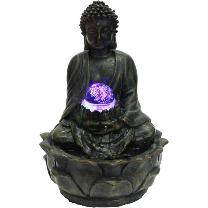 Fontaine d 39 int rieur bouddha m ditation en r si achat for Fontaine d interieur design zen