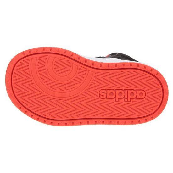 ADIDAS Baskets Hoops Mid 2.0 I - Bébé garçon - Noir et rouge Noir ...