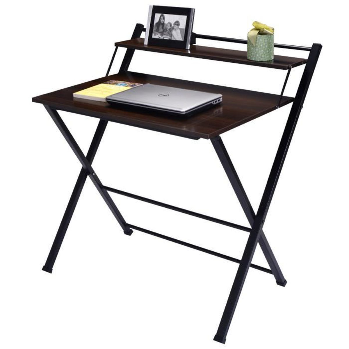 bureau informatique pliable table pour ordinateur travail pc meuble de bureau achat vente. Black Bedroom Furniture Sets. Home Design Ideas