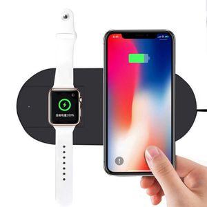 CHARGEUR TÉLÉPHONE 7,5 W 2 en 1 Charge rapide Pad chargeur sans fil p