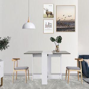 TABLE À MANGER SEULE Table Pliante Style Contemporain 4-6 Personnes pou