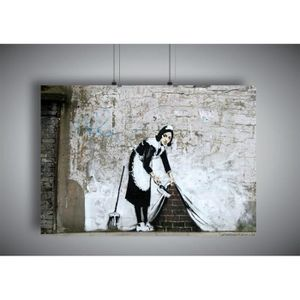 AFFICHE - POSTER Poster BANKSY STREET ART MAID Wall Art - A4 (21x29