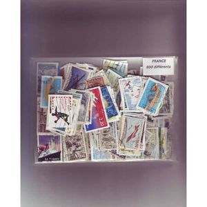 TIMBRE France - lot de 800 timbres differents -