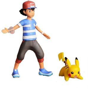 FIGURINE - PERSONNAGE POKEMON - Figurines à fonctions 12 cm Pikachu et S