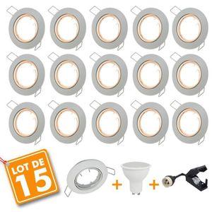 SPOTS - LIGNE DE SPOTS Lot de 15 Spot LED encastrable complet orientable