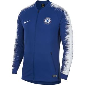 TENUE DE FOOTBALL VESTE NEWS FC CHELSEA BLEU ADULTE 2018/19 survetem