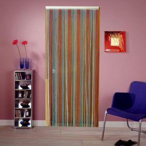 RIDEAU DE PORTE Rideau de porte multicolore perle d alu - 90x215cm