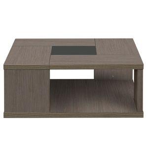 TABLE BASSE Table basse carrée Chêne cérusé - HANNY - L 90 x l