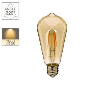 AMPOULE - LED Ampoule LED vintage Edison fumée, culot E27, 4W co