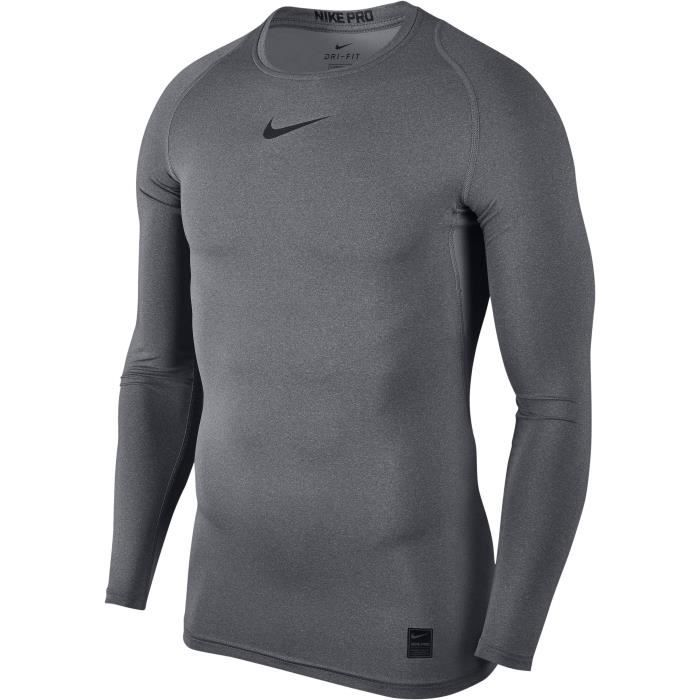 NIKE T-shirt de compression - Homme - Gris