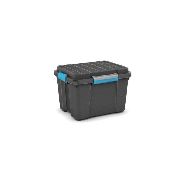 KIS - SCUBA BOX M 45 L, Rangement, Noir, 49,5 x 39 x 34 cm