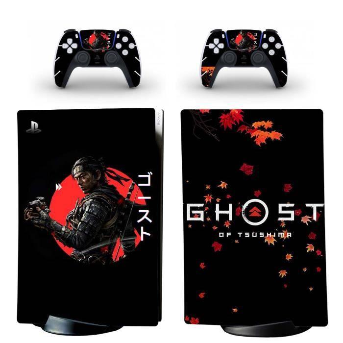 Ghost of Tsushima PS5 Digital Sticker Skin Autocollant protection pour PS5 Playstation 5 Digital Édition Console et 2 contrôleurs 05