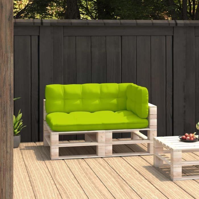 ��MMP©Parfait-Coussins de canapé palette 3 pcs - Coussin matelassé pour palette - Coussin pour banc de jardin Banquette Vert v8700