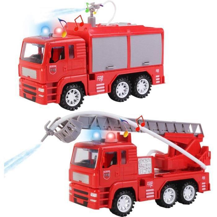 VEHICULE MINIATURE ASSEMBLE ENGIN TERRESTRE MINIATURE ASSEMBLE deAO Camion de Pompier à Friction avec &Eacutechelle de229