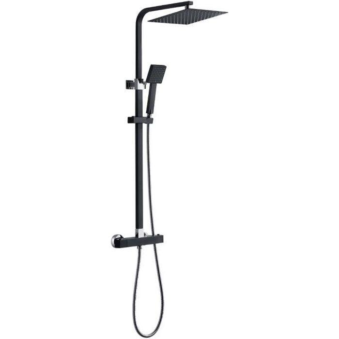 Auralum® Top Panneau de Douche avec LCD Écran Colonne de Douche Pluie Système de Douche en Acier Inoxydable Couleur