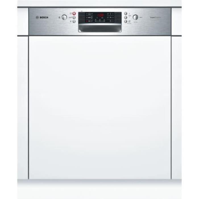 bosch - lave-vaisselle 60cm 13c 44db a++ intégrable avec bandeau inox - smi46js03e
