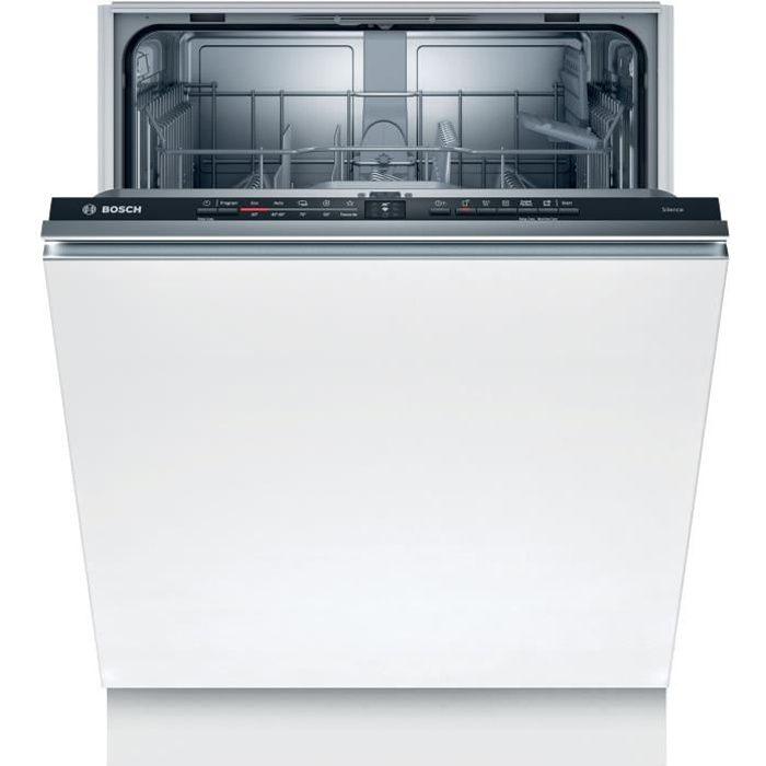 Lave-vaisselle tout intégrable BOSCH SMV2ITX18E - 12 couverts - Moteur induction - Largeur 60cm - Classe E - 48 dB - Noir