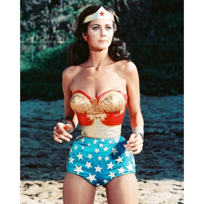 Poster Affiche Lynda Carter Wonderwoman Miss World Actrice Cinema 31cm x 39cm