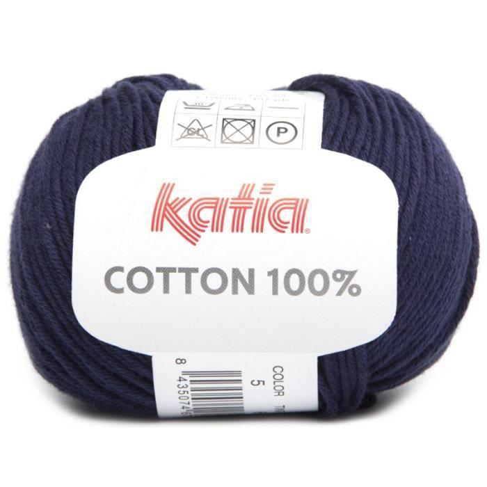 Coton COTTON 100% - Katia 05 Marine