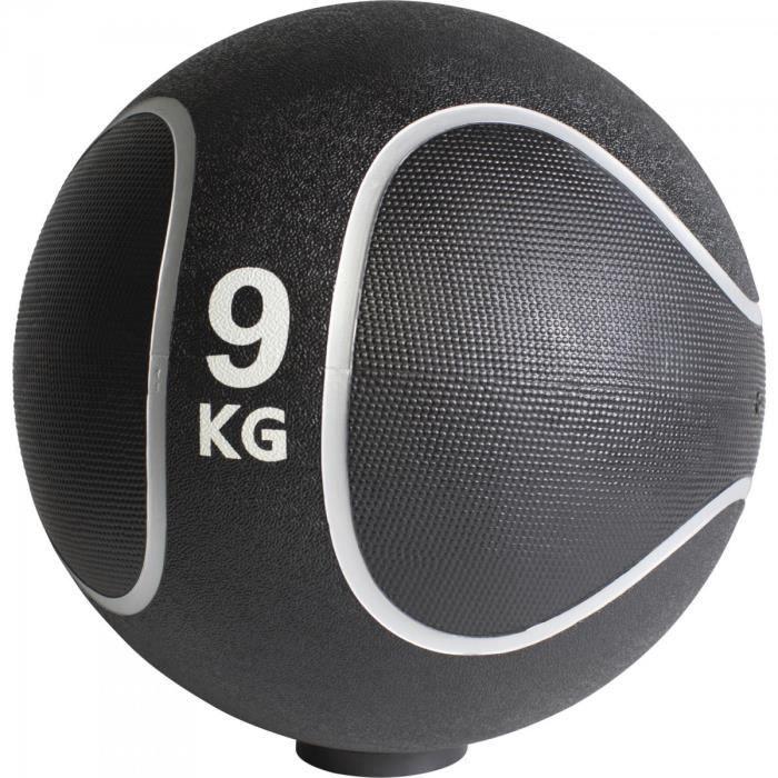 Gorilla Sports - Médecine ball style noir-gris de 1kg à 10kg - 9 KG