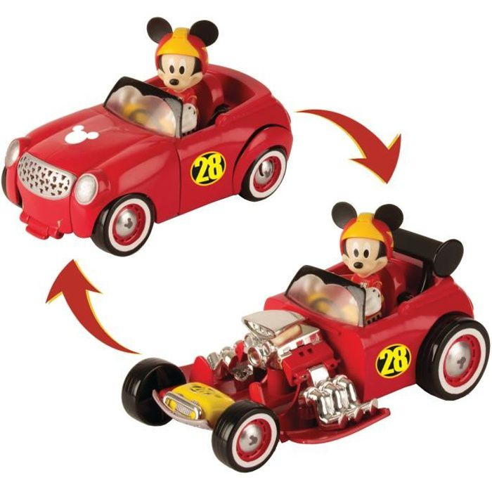 MICKEY & SES AMIS TOP DEPART Assortiment 5 véhicules transformables + figurine
