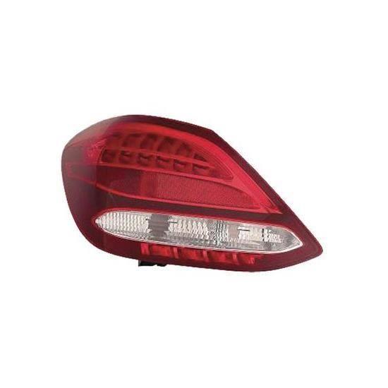 Feu arrière gauche pour MERCEDES (W205) CLASSE C ph. 1 2014-2018, rouge incolore, Led, Mod. Berline 4P.