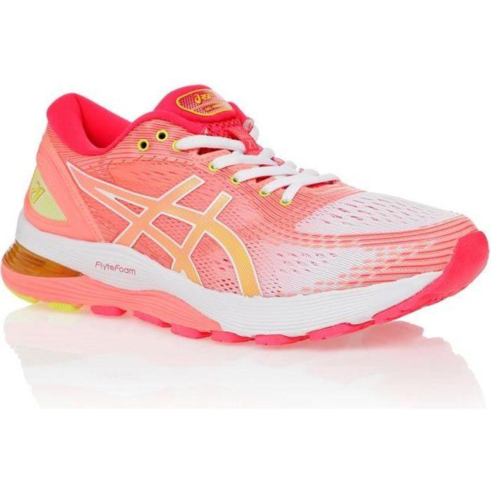 ASICS Chaussures de running Gel-Nimbus 21 Shine - Femme - Rose