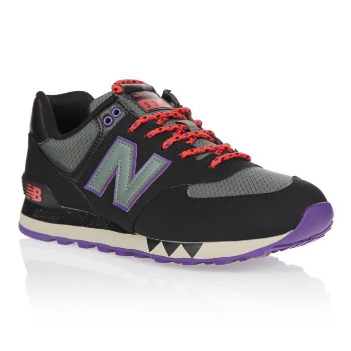 NEW BALANCE Baskets - Homme - Noir, gris et violet