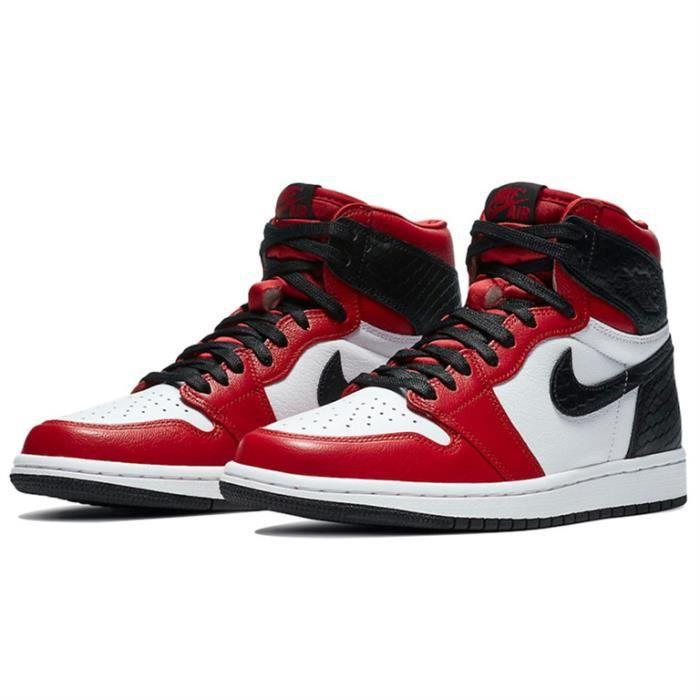 """Air Jordan 1 High OG """"Satin Red"""" Chaussure de Sport AJ 1 Pas Cher pour Homme"""