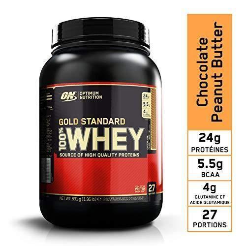 Optimum Nutrition Gold Standard 100% Whey Protéine en Poudre avec Whey Isolate, Proteines Musculation Prise de Masse, Chocolat