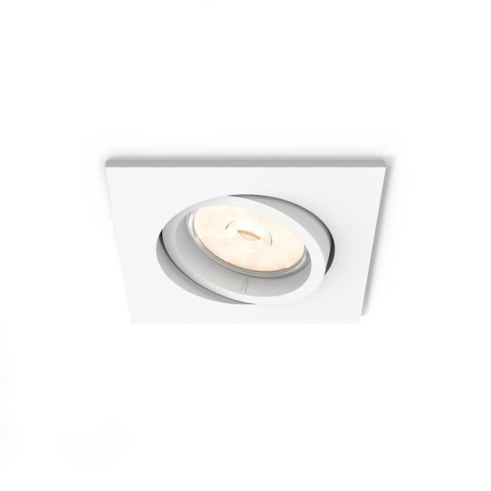 Philips myLiving 5019131PN, Recessed lighting spot, GU10, 1 ampoule(s), LED, 220-240, Blanc