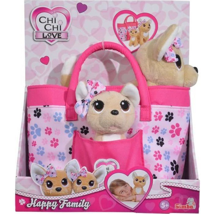 SMOBY Chichi Love Happy Family - 2 Peluches