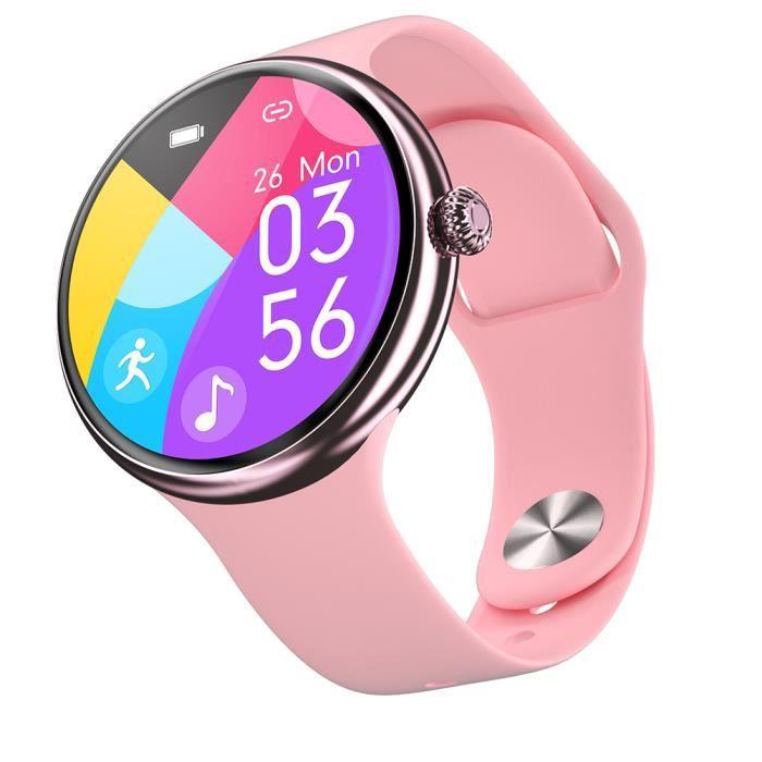 UP9 Plus Montre connectée sport Smartwatch Intelligente Bluetooth de surveillance de la fréquence cardiaque -Table en silicone rose