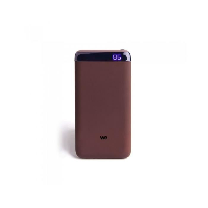 Batterie de secours 10 000 mAh avec USB-C WE Marron
