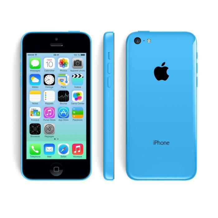 iphone 5c bleu 16go occasion comme neuf achat smartphone. Black Bedroom Furniture Sets. Home Design Ideas