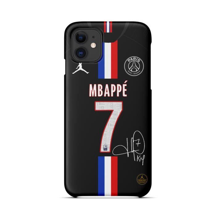 Coque iPhone SE 2020-8-7,19-20 Maillot Domicile Motif MBAPPE PSG Paris Saint Germain Football Bumper Pour iPhone SE 2020-8-7