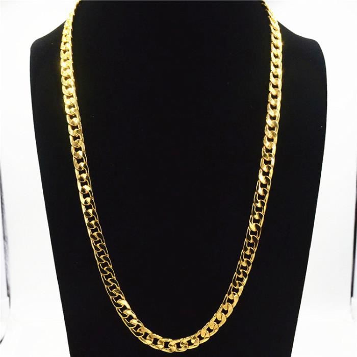 collier fin or homme