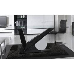 table de salle manger design lydie en verre achat. Black Bedroom Furniture Sets. Home Design Ideas