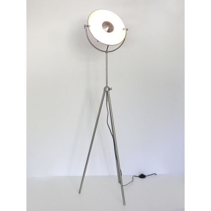 Lampadaire r tro luminaire studio nickel mat alona 10318 achat vente - Lampadaire studio photo ...
