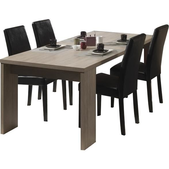 table salle manger 170 cm coloris ch ne rustique achat vente table a manger seule table. Black Bedroom Furniture Sets. Home Design Ideas