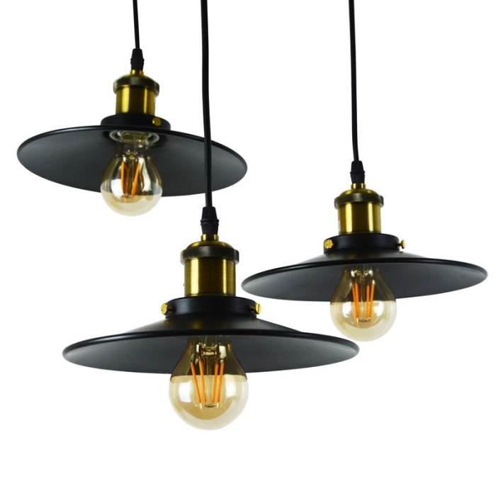 Suspension triple luminaire achat vente suspension for Luminaire triple suspension