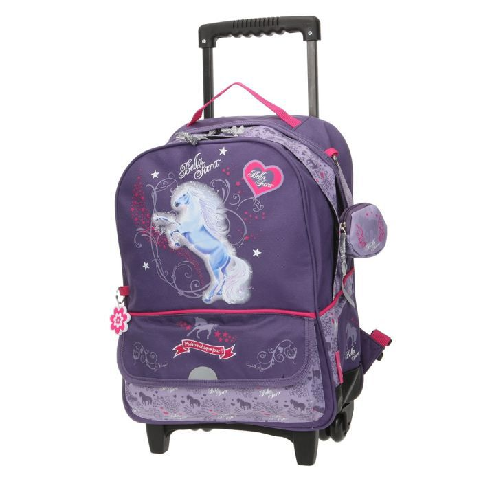 bella sara sac dos roulettes starlight fille violet achat vente sac dos 3661507522135. Black Bedroom Furniture Sets. Home Design Ideas