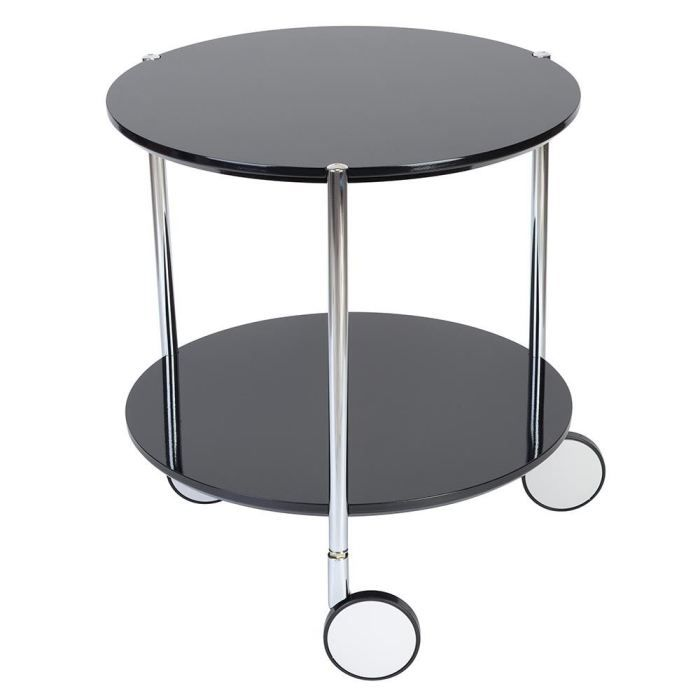 table basse pop noire sur roulettes 40x45cm achat. Black Bedroom Furniture Sets. Home Design Ideas