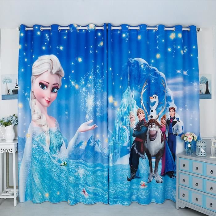 double rideau la reine des neiges elsa disney magie neige anna rodolph achat vente rideau. Black Bedroom Furniture Sets. Home Design Ideas