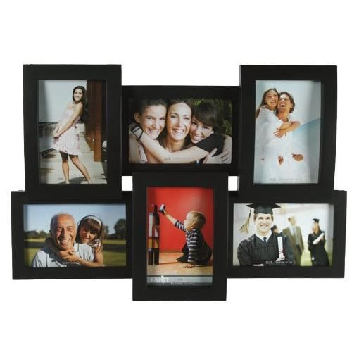 cadre photo mural multiple 3d 45 x 32 cm noir achat. Black Bedroom Furniture Sets. Home Design Ideas