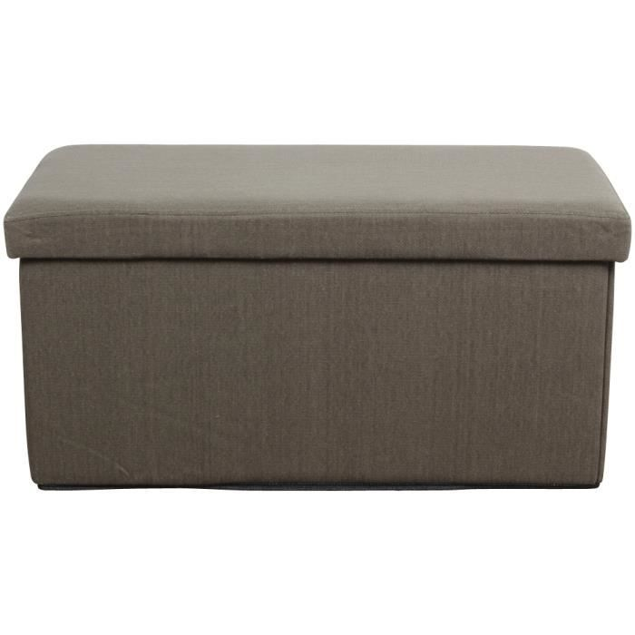 banquette pouf pliant coffre taupe achat vente. Black Bedroom Furniture Sets. Home Design Ideas