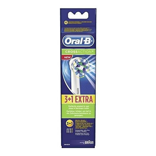 BROSSE A DENTS ÉLEC ORAL-B CrossAction 3+1 brossettes de rechange